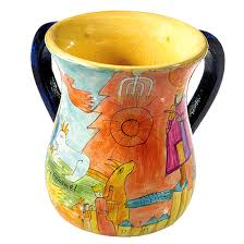 netilat yadayim cup buy yair emanuel painted wood netilat yadayim cup washing cup