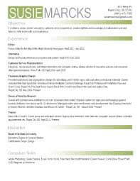 videographer resume samples of resumes for highschool students