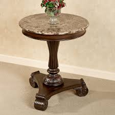 unfinished accent table stunning killian marble top round accent table oak pedestal end