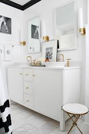 black and white bathroom makeover
