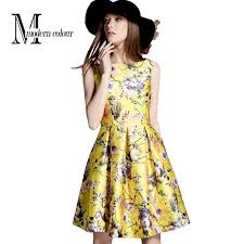 best modern color high quality fashion brand yellow dress women
