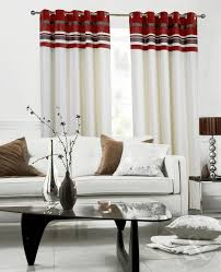 Grey Cream Curtains Red Lined Eyelet Curtains Uk Nrtradiant Com