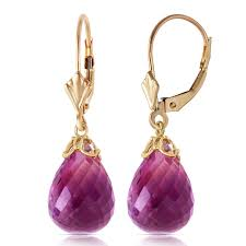 leverback earrings 14k gold lever back earring with briolette amethyst