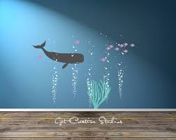 White Wall Decals For Nursery by Aquarium Bubbles Decal Of Fish Decal Ocean Scene Wall Art