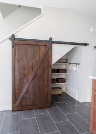 How To Build A Sliding Barn Door How To Build An Under Stairs Pantry With A Diy Sliding Barn Door
