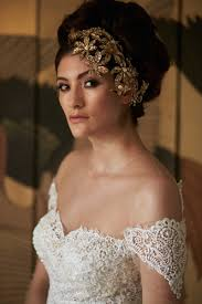 gold headpiece headpieces veils photos in lace gown with gold headpiece