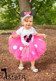 Halloween Costume Minnie Mouse Minnie Mouse Tutu Baby Tutu Puff Headband Photo Prop