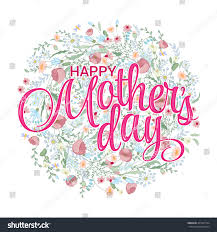 happy mothers day card spring stock vector 405761524