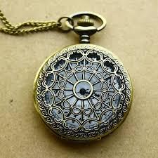 vintage necklace watch pendant images Fashion new quartz pocket watch classic bronze vintage spiderweb jpg
