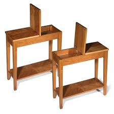 Chair Side Tables With Storage Bedroom Rectangular Small Wooden Side Table With Storage Modern