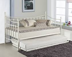 Cheap Daybed Elegant French Metal Versailles Single Day Bed With Pull Out Guest