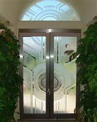 frosted glass entry doors custom glass entry sans soucie art glass