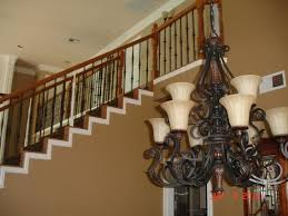 Restaining Banister Classic With A Twist Iron Balusters Right For You