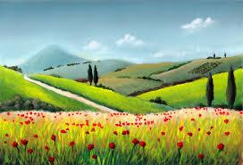 simple landscaping paintings