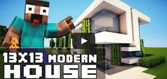 membuat rumah di minecraft minecraft house tutorial 13x13 rumah modern matacraft
