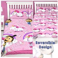 despicable me daydream fluffy unicorn agnes double duvet cover set