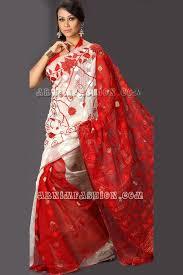 jamdani sharee white jamdani saree from arnim fashion bangladeshi fashions