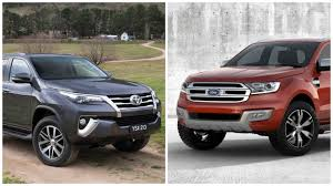 2016 toyota fortuner vs 2016 ford endeavour comparison report
