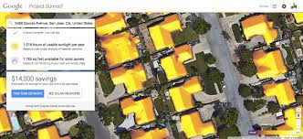 Solar Panels Estimate by Green Project Sunroof Mapping The Planet S Solar