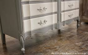 French Provincial Furniture by For The Love Of Two Grays Two Toned Gray Dresser Southern Revivals