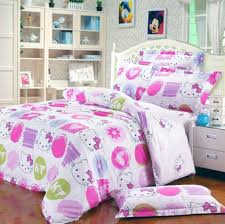 nice hello kitty bed linen with white furniture style for modern