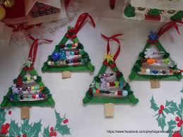 our christmas tree beaded ornaments craft sticks pipe cleaners
