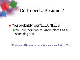 do you need a resume professional portfolio ppt video online download