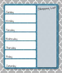 organized home printable menu planner meal planning weekly menu planner organized home one of many free