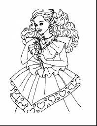 wonderful disney princess barbie coloring page with barbie