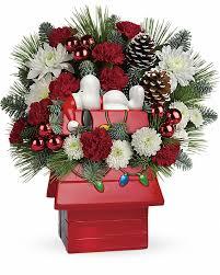 grays florist christmas flowers holiday bouquet snoopy u0027s