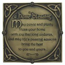 blessing for the home a true home blessing potrayed in a plaque shamrockgift