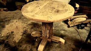 How To Make A Pedestal Table Our Reclaimed Wood Round Pedestal Tables Youtube