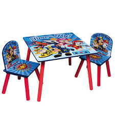 paw patrol kids table set paw patrol childrens wooden table and chair set kids