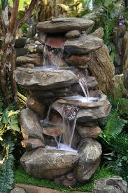 amazon com alpine win316 rock waterfall fountain with led light