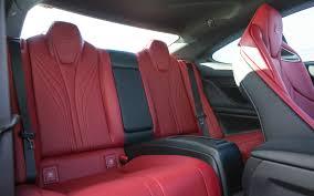 lexus rc f how many seats lexus rc f 2015 rear seats u2013 front seat driver