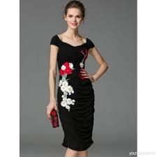 tb dress slash neck cap sleeve ruffle women s sheath dress 12755324