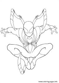 ultimate spiderman iron spider coloring pages printable