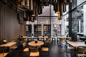 cheap restaurant design ideas techné makes creative use of cardboard tubes at grill d s new