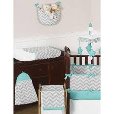 Zig Zag Crib Bedding Set Sweet Jojo Designs Gray And Turquoise Zig Zag Collection 9pc Crib
