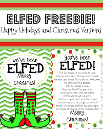you u0027ve been elfed elf fun elf printable elves you ve and holidays