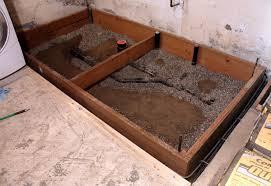 basement bathroom floor plans basement progress adding a bathroom chezerbey