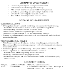 Examples Of Waitress Resume by Interesting Inspiration Waitress Resume Example 11 Resume Sample