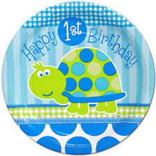 1st birthday boy turtle 1st birthday boy lunch plates 8