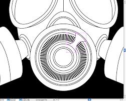 create a badass gas mask in illustrator