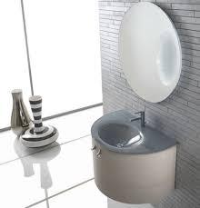 simple bathroom vanity with sink wooden storage and unique