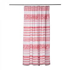 ikea vinter 2014 fabric shower curtain red white stripe nordic xmas