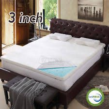 gel memory foam mattress topper ebay