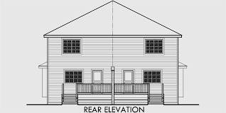 Duplex House Plans For Narrow Lots Duplex House Plans Narrow Lot Duplex House Plans D 556