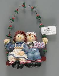 109 17394 raggedy and andy swing ornament