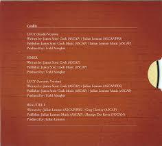 cd singles julian lennon and james scott cook lucy studio